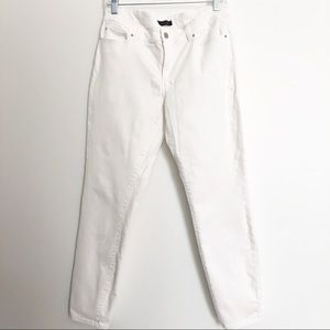 Ann Taylor White Modern Skinny Ankle Jeans Size 10